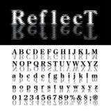 Abc reflect Royalty Free Stock Photography