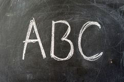 ABC On A School Blackboard Stock Photography