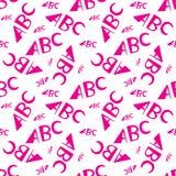 ABC segna il modello con lettere senza cuciture Progettazione creativa nello stile dell'ufficio illustrazione vettoriale