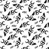 ABC segna il modello con lettere senza cuciture Progettazione creativa nello stile dell'ufficio illustrazione di stock