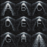 ABC set. Bumped Brick wall textured ABC set ( all sets containing letters, numbers, signs and symbols Royalty Free Stock Images