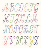 Abc set multicolor. Uppercase letters Royalty Free Stock Photo