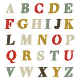 Abc set scribble style. Retro hand drawn alphabet set Stock Image