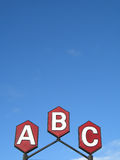 Abc sign Stock Image