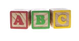 abc skära i tärningar bokstaven Arkivfoto