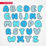 ABC sketch latin font. Decorative funny isolated letter icons for kids. Alphabet symbols for text. ABC sketch latin font. Decorative funny isolated letter icons royalty free illustration