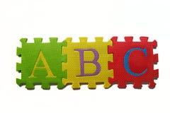 ABC sobre blanco Imagen de archivo libre de regalías