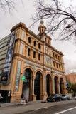 abc som bygger i den Castellana avenyn i Madrid Arkivbilder