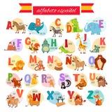 ABC spagnolo per istruzione prescolastica Fotografia Stock