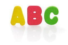 ABC sponge letter on white Stock Image