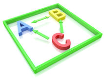 ABC in squared. At registration information related to children and learning Royalty Free Stock Photography