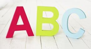 ABC sul pavimento fotografie stock