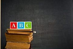 ABC sur le vieux manuel Photographie stock libre de droits