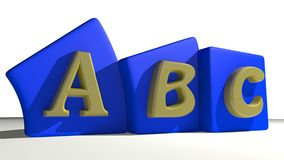 ABC tags. Tags with ABC written on them: a metaphor for beginning / beginners Royalty Free Stock Photos