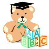abc Teddy Bear Wearing Graduation Cap stock illustrationer