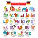 ABC tedesco per istruzione prescolastica Fotografia Stock Libera da Diritti
