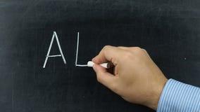 ABC text handwritten blackboard chalkboard stock video footage