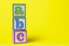 ABC Toy Blocks Imagen de archivo