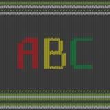 ABC tricoté Image libre de droits
