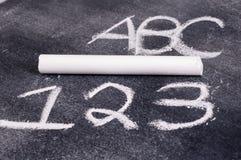 ABC und 123 Stockfotos
