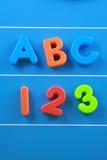 ABC und 123 Stockfoto