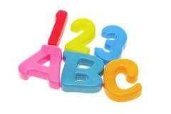 ABC und 123 Stockbild