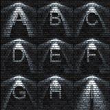 Abc-uppsättning royaltyfri illustrationer