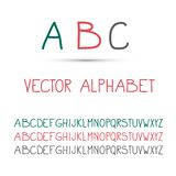 ABC - Vector Alphabet Set. Isolated royalty free illustration