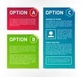 ABC vector colorful option banners. A, B, C vector colorful option banners Stock Photography