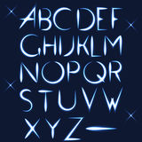 ABC vector light font letter design Stock Photography