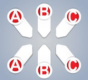 ABC vector progress icons in White Royalty Free Stock Photos