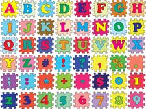 ABC vector puzzle color Royalty Free Stock Photos