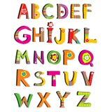 ABC. vektorblumenschrifttyp. Stockfotografie