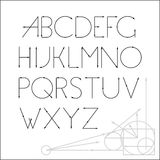 ABC-Vektorguss-Briefgestaltung Lizenzfreie Stockbilder