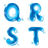 ABC - Water Liquid Letter Set - Capital Q R S T Stock Photography