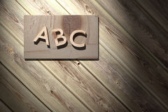 ABC in wood. 3d rendering of a wooden abc letters Stock Illustration