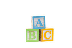 ABC in wooden child blocks Royalty Free Stock Photo