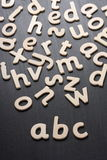 ABC Wooden Letters Royalty Free Stock Images