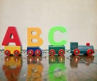 ABC  wooden lettes train Stock Image