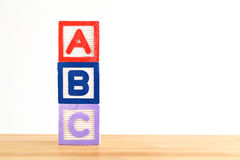 ABC wooden toy block Stock Images