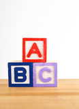 ABC wooden toy block Royalty Free Stock Photos