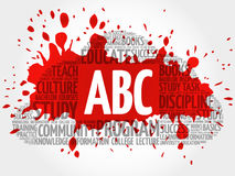ABC word cloud collage Royalty Free Stock Image