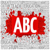ABC word cloud, education concept Stock Photo