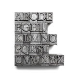Abc word, letterpress Royalty Free Stock Images