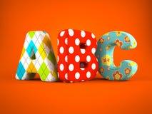 ABC Word On Orange Background Stock Photo