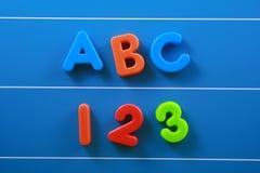 ABC y 123 Fotografía de archivo libre de regalías