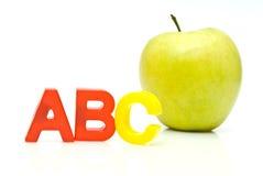 ABC y manzana Fotos de archivo