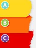 ABC zog Papierfahne ab Lizenzfreies Stockfoto