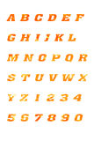 abcbokstavsalfabet och symboler Royaltyfria Bilder