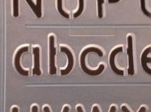 abcd钢板蜡纸 库存图片